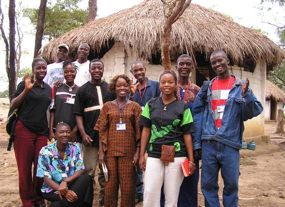 CVT peer mental health counselors in Guinea