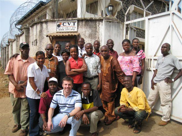 CVT staff in Sierra Leone