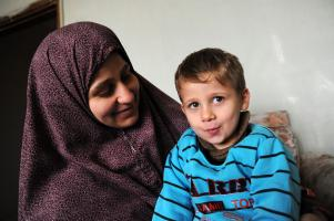 Zarqa Family_mother and son